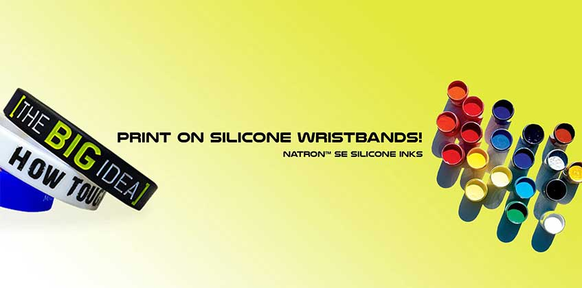 Screen Pad Print Silicone Wristbands