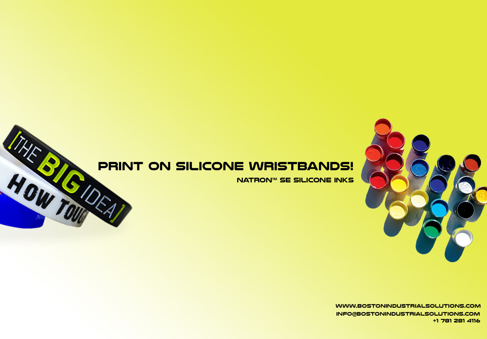 silicone ink to print on Silicone Wristbands - silicone ink