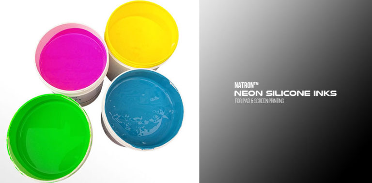 Natron SE Series Neon Silicone inks for pad and screen printing on silicone - Boston Industrial Solutions