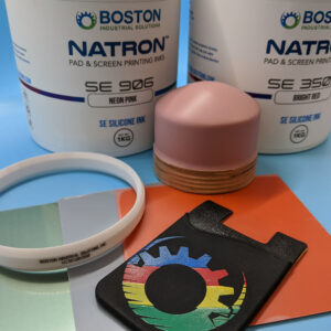 multi color printing with silicone inks