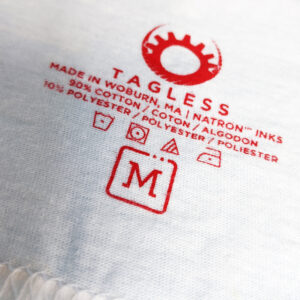 Tagless printing on neck labels
